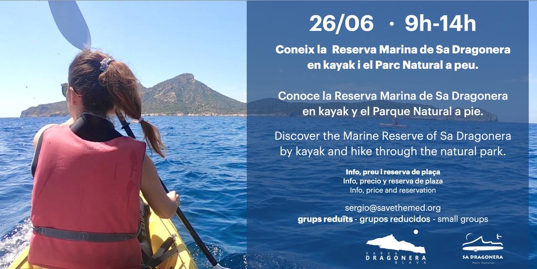 Coneix la Reserva Marina de Sa Dragonera en kayak!