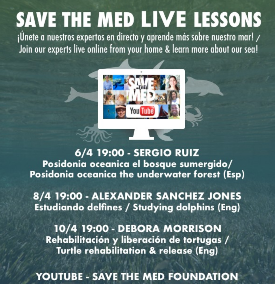 Save The Med LIVE Lessons a YouTube 6/4 - 10/4